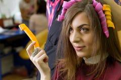 Делать волос завивая Стоковые Фотографии RF