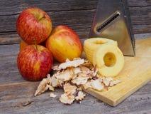 Делать высушенные яблока Стоковые Изображения