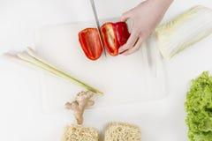 Делать здоровую еду с овощами Стоковая Фотография