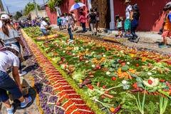 Делать одолженный ковер овощей, Антигуа, Гватемала Стоковая Фотография RF