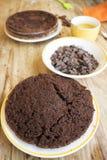 Делать торт губки шоколада Стоковые Фотографии RF