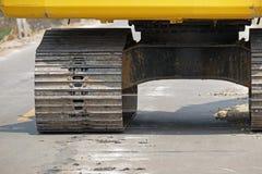 Делать центра левого колеса гусеницы (выбранный фокус) Стоковые Изображения RF
