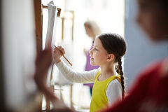 Делать эскиз к в искусств-студии Стоковые Фото