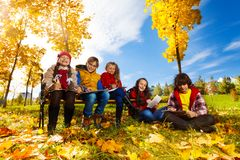 Делать эскиз к парку осени Стоковая Фотография RF