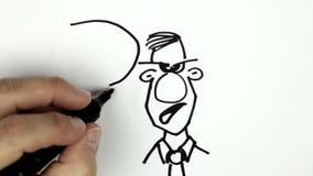 Делать эскиз к doodle шаржа сток-видео