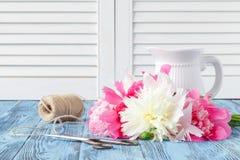 Делать Bridal букета красивый розовой свадьбы цветет Стоковое Изображение RF
