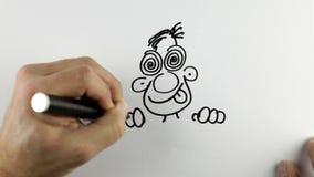 Делающ эскиз к doodle шаржа - промежутку времени бесплатная иллюстрация