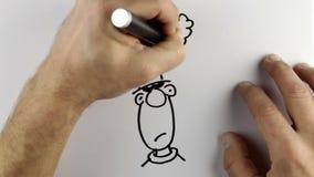 Делающ эскиз к doodle шаржа - промежутку времени иллюстрация вектора