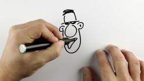 Делающ эскиз к doodle шаржа - промежутку времени иллюстрация штока