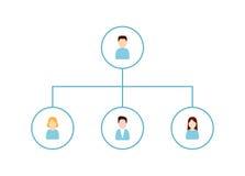 Делегирующ и значок организационной структуры Стоковые Изображения RF