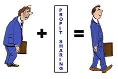 Дележ дохода иллюстрация вектора