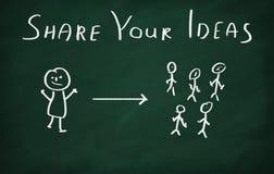 Делите ваши идеи Стоковые Фото