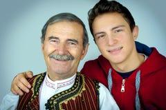 Дед и внук Стоковая Фотография RF