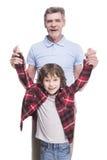 Дед и внук Стоковые Фото