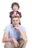 Дед и внук Стоковые Изображения RF
