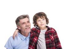 Дед и внук Стоковая Фотография