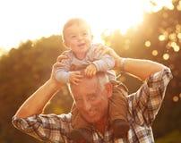 Дед и внук Стоковое Фото