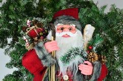 Дед Мороз с настоящими моментами Стоковые Изображения