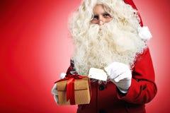 Дед Мороз с настоящими моментами Стоковые Фото