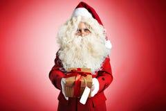 Дед Мороз с настоящими моментами Стоковое Фото