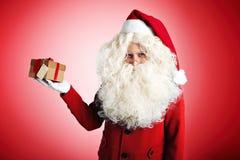 Дед Мороз с настоящими моментами Стоковое Изображение