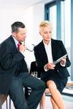 Деловая встреча в офисе, высших руководителях Стоковые Изображения