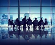 Деловая встреча в офисе Нью-Йорка Стоковые Изображения RF