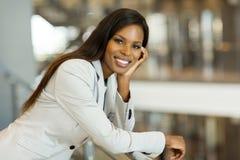 Деловая женщина американца Афро Стоковые Фотографии RF