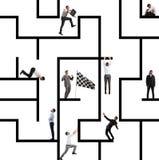 Деловая игра лабиринта стоковое изображение