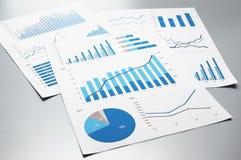 Деловые документы рост диаграмм диаграмм дела увеличил тарифы профитов Стоковые Фото
