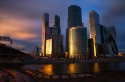 Деловый центр Москва международный, Moscow-Город стоковые изображения