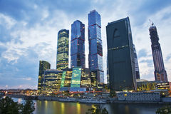 Деловый центр Москвы международный, Москв-город стоковое изображение rf