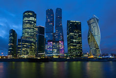 Деловый центр Москвы международный, Москв-город стоковое фото