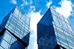 Деловый центр новых зданий современный Стоковое Фото