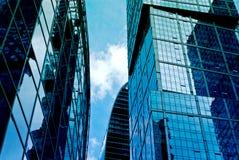 Деловый центр новых зданий современный Стоковые Фото