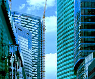 Деловый центр новых зданий современный стоковые изображения rf