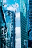 Деловый центр новых зданий современный Стоковое фото RF