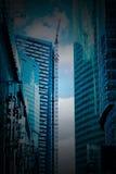Деловый центр новых зданий современный Стоковые Фотографии RF