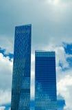 Деловый центр новых зданий современный Стоковая Фотография RF
