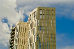 Деловый центр новых зданий современный Стоковое Изображение