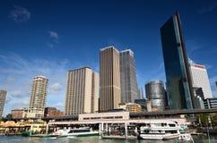 Деловый центр Сиднея небоскребов Взгляд порта Джексона Стоковое Изображение