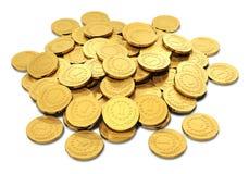 Ворох золотистых монеток стоковое изображение