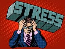 Дело бизнесмена суровости проблем стресса иллюстрация штока