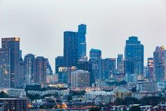 Дело городского управления центральное городское во время сумерк Стоковое Фото