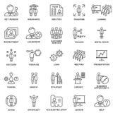 Дело значков и виды умственной деятельности персоны Стоковые Изображения