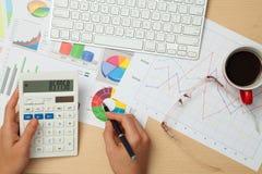 Дело и диаграммы Finanace Стоковые Изображения RF