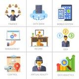 Дело и финансы, маркетинг и управление Стоковое Изображение RF
