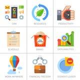 Дело и финансы, маркетинг и управление Стоковая Фотография RF