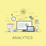 Дело и финансы Цифровые технологии аналитичности Диаграммы и отчеты иллюстрация штока