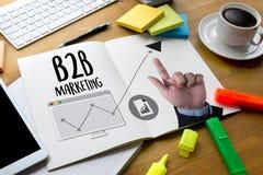 Дело маркетинга B2B к Делу Маркетингу Компании, B2B Busi Стоковое Изображение RF